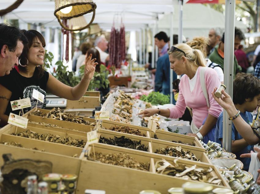 Ambiente general y paradas de la Feria del Bergabolet, durante el 54 Concurso de Boletaires