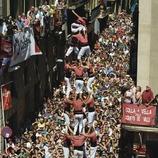 4 de 9 amb folre de la Colla Vella dels Xiquets de Valls. Diada Castellera de la Fiesta de San Félix