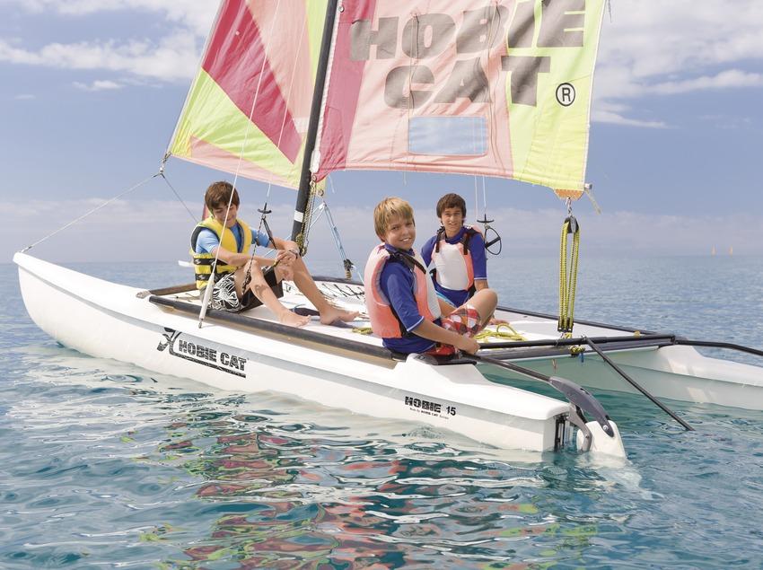 Hobie Cat sailing at the Santa Susanna Water Sports Centre