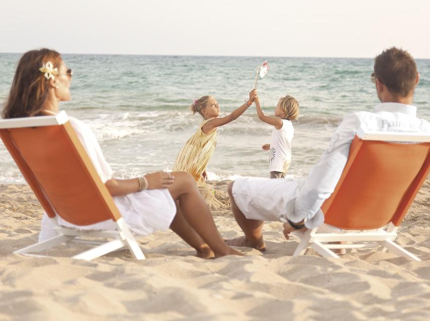 Familia en la playa de Calafell