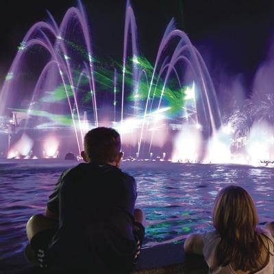 Spectacle couleur et lumière dans les fontaines de Salou