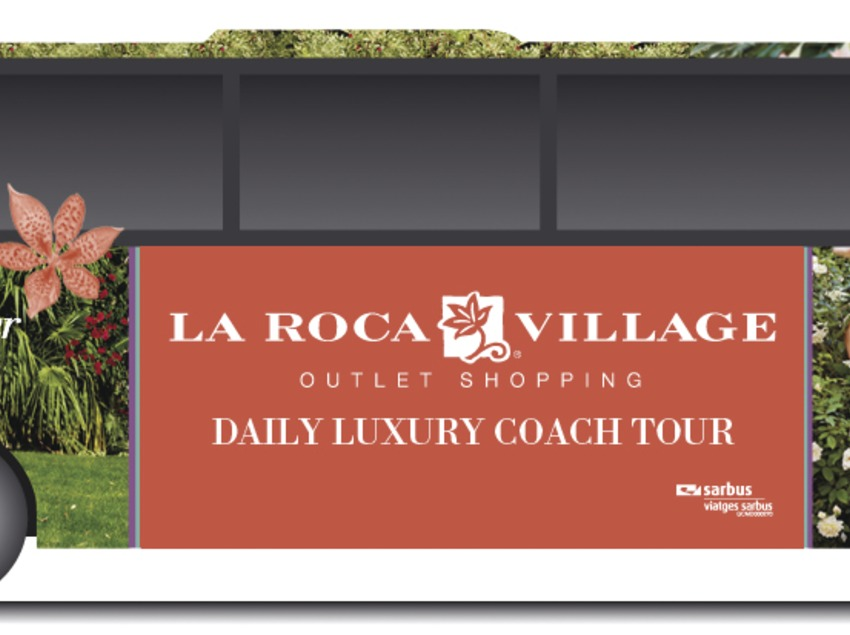 Catalunya Central. Autobús de La Roca Village, en La Roca del Vallès   (La Roca Village)