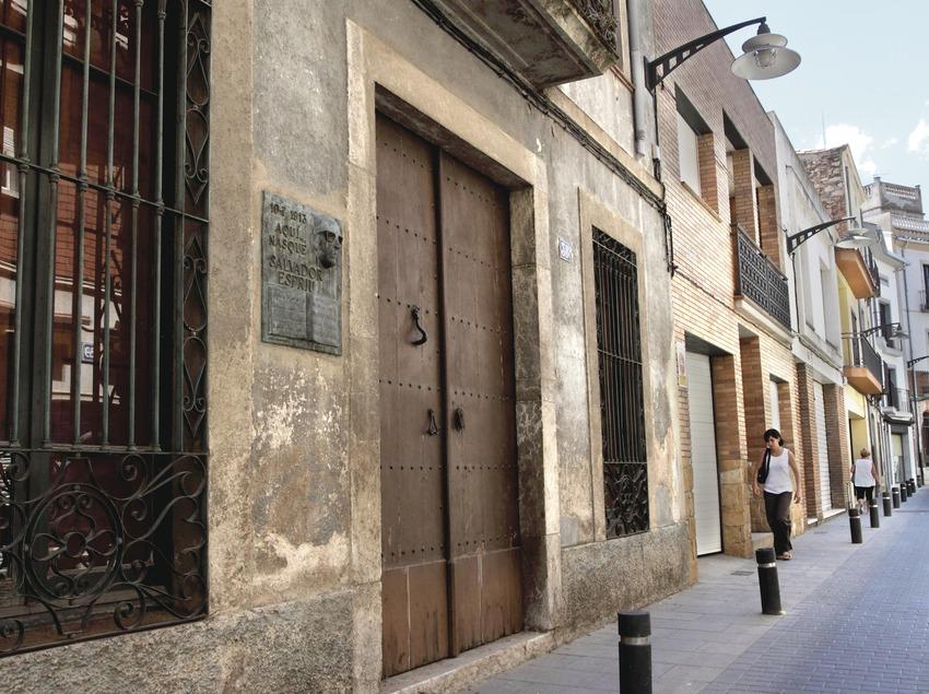 Santa Coloma de Farners. Casa natal de Salvador Espriu   (Consorci de Viles Termals)