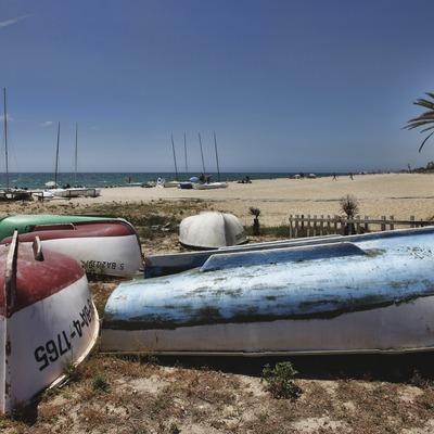 Caldes d'Estrac. Passeig dels Anglesos i platja   (Consorci de Viles Termals)