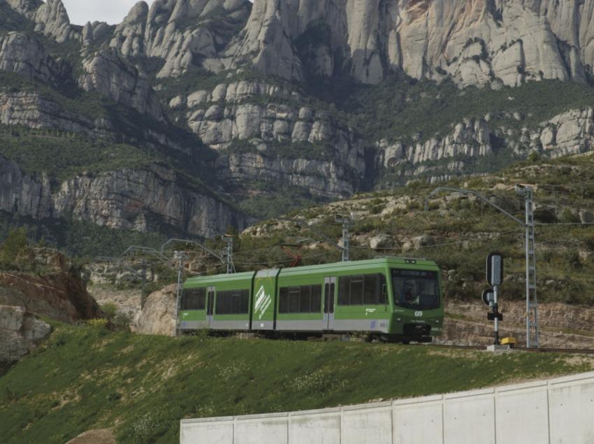 Catalunya Central. Cremallera de Montserrat, a Monistrol de Montserrat   (FGC Turisme i Muntanya)