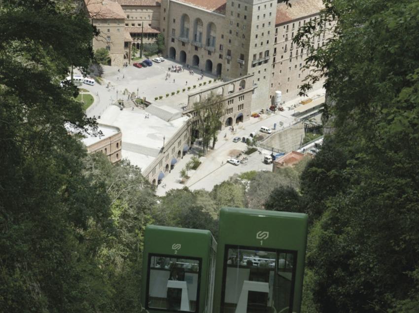 Catalunya Central. Funicular de Montserrat, a Monistrol de Montserrat   (FGC Turisme i Muntanya)