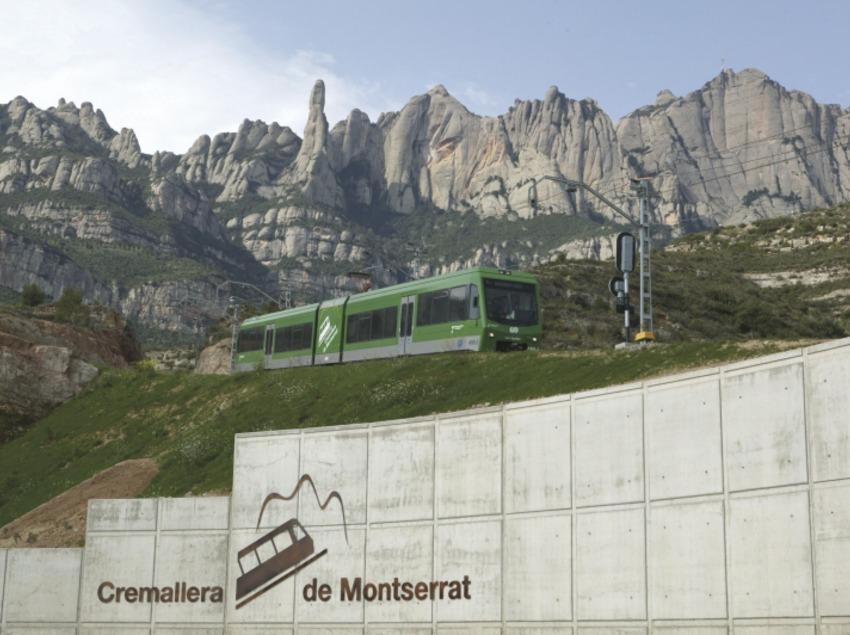 Catalunya Centra. Cremallera de Montserrat, en Monistrol de Montserrat   (FGC Turisme i Muntanya)