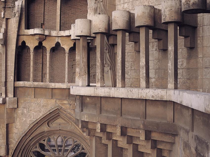 Detall exterior del Temple Expiatori de la Sagrada Família.  (Toni Vidal)