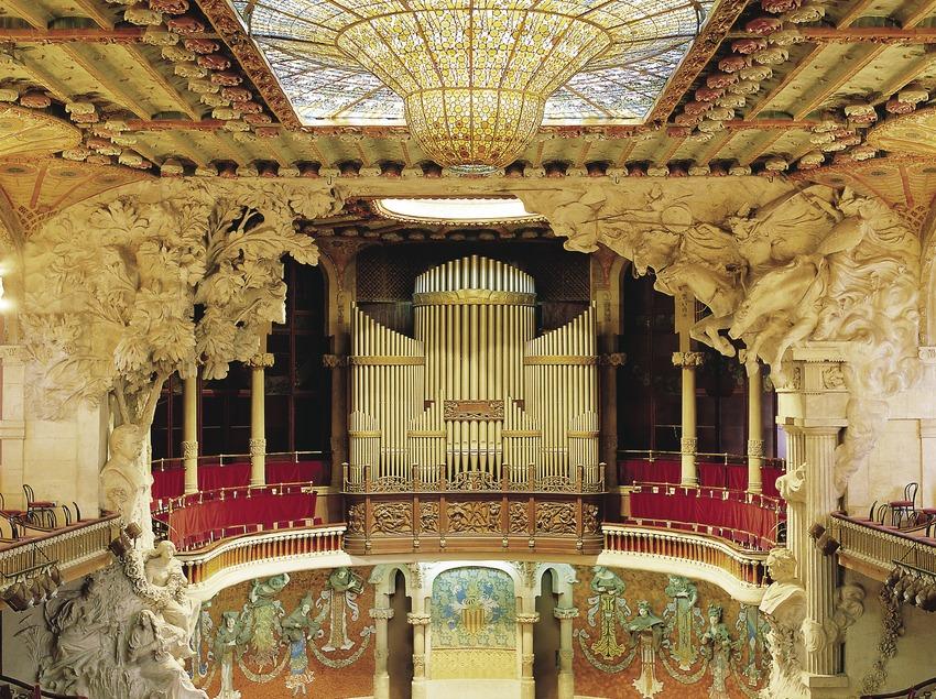 Interior del Palau de la Música Catalana.
