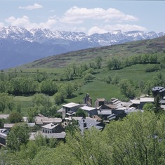 Pirineos. Vista de Guils, en La Cerdanya