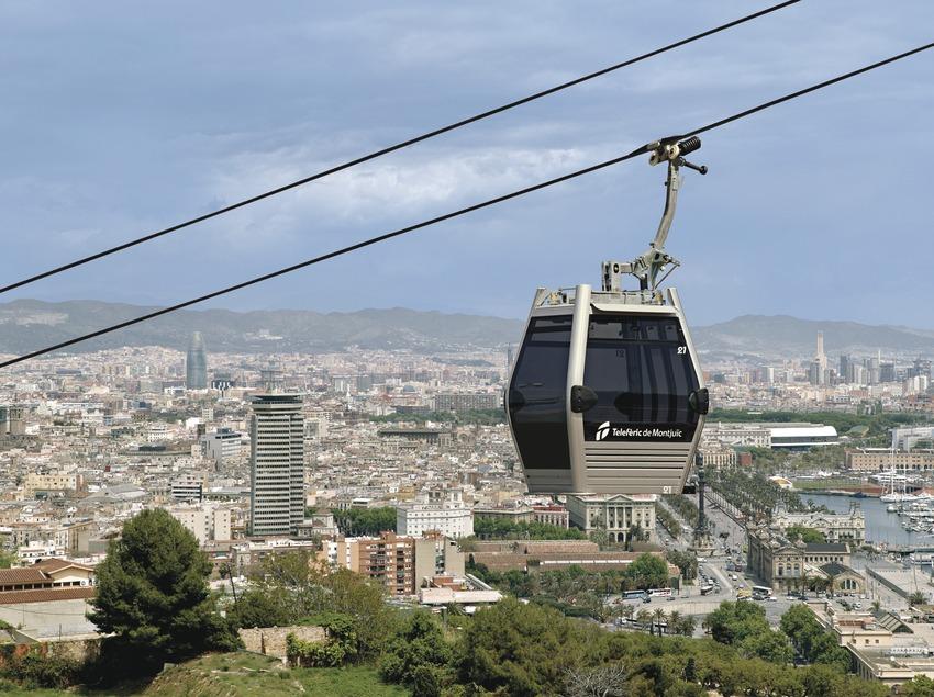 Barcelona. El telefèric per damunt de la ciutat   (TMB)