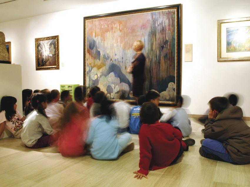 Catalunya Central. Escolars al Museu Abelló, a Mollet del Vallès   (Museu Abelló)