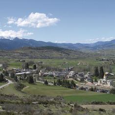 Pirineos. Vista de Das, en La Cerdanya