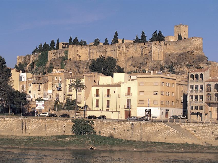 Castell de la Suda i el riu Ebre al seu pas per Tortosa.  (Oriol Alamany)