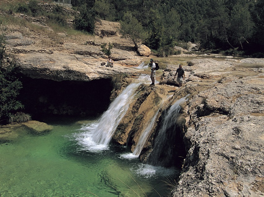 El Charco de Cristal en el río Algars, en el parque Natural dels Ports.  (Rafael López-Monné)