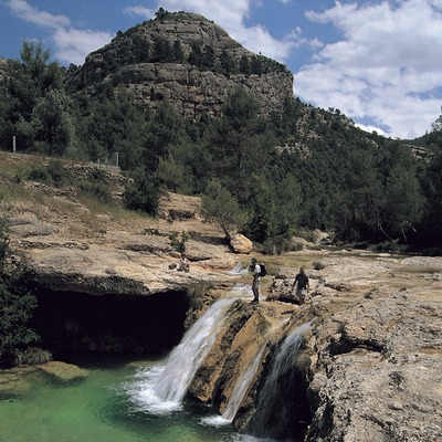 El Toll del Vidre al riu Algars, al Parc Natural dels Ports.  (Rafael López-Monné)
