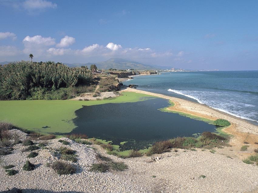 Desembocadura del río Sènia.