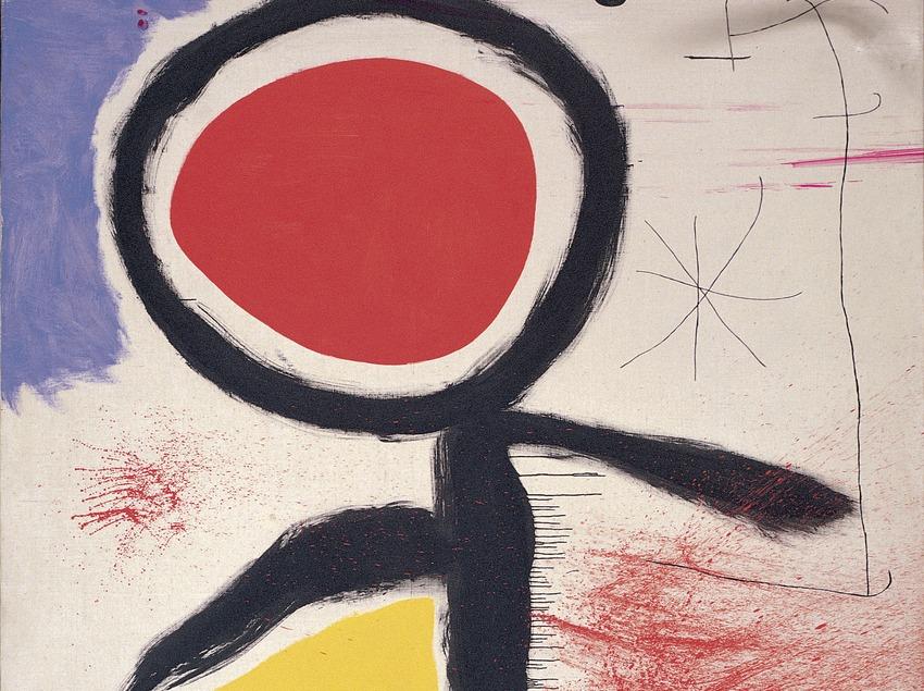 """""""Personaje delante del sol"""" (1968). Joan Miró. Fundació Joan Miró. Barcelona"""