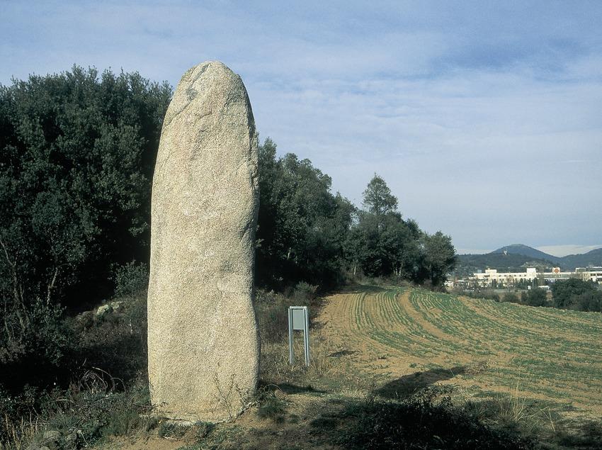Menhir cerca de la Sierra de la Albera.  (Servicios Editorials Georama)