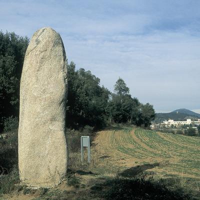 Menhir prop de la serra de l'Albera.  (Servicios Editorials Georama)