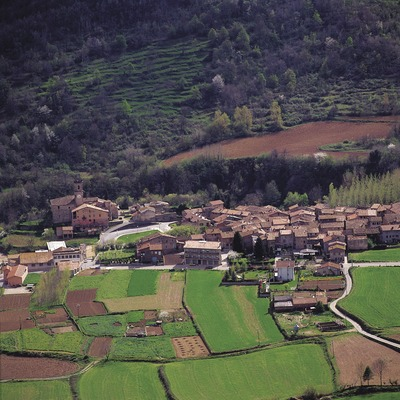 Vista del pueblo de Riudaura    (Francesc Tur)