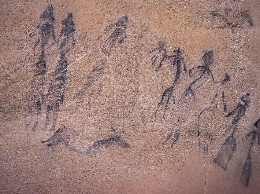 Höhlenmalereien in Roca dels Moros, El Cogul.