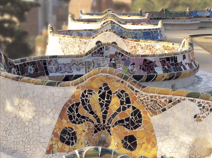 Bancos del Park Güell. Antoni Gaudí. Barcelona