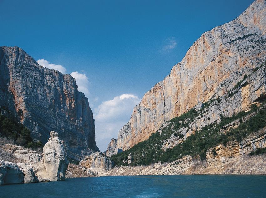 Congost de Montrebei, en la sierra de Montsec d'Ares