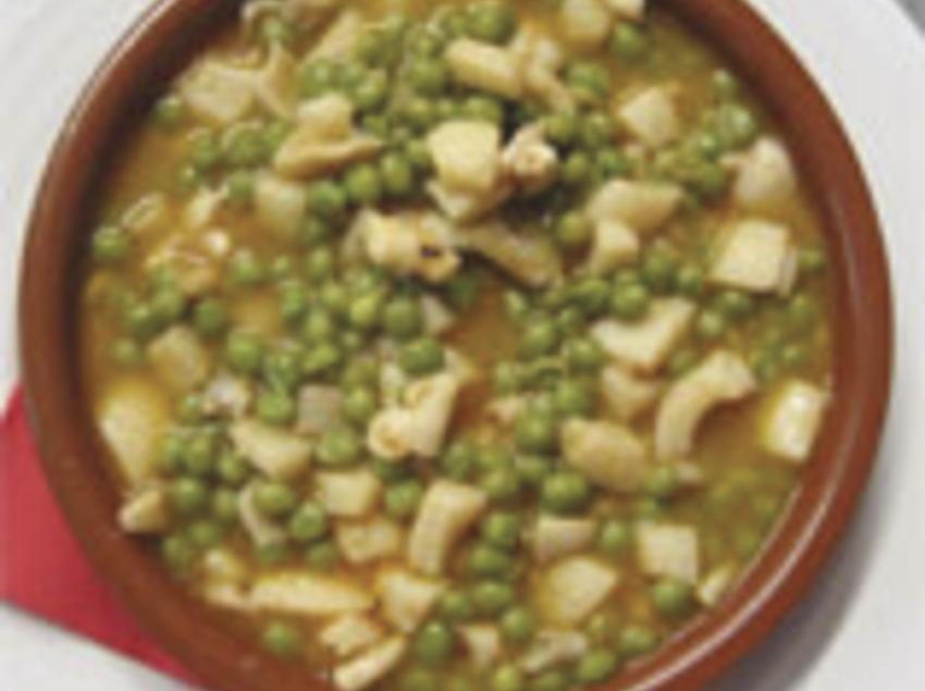 Sèpia amb pèsols