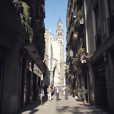 Façana de l'església de Santa Maria del Mar des del carrer de l'Argenteria.  (Felipe J. Alcoceba)
