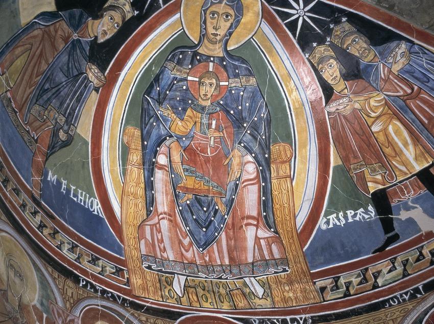 Pintura mural de l'església de Santa Maria de Taüll.