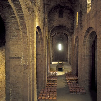 Nave central de la iglesia de la Colegiata de Sant Vicenç de Cardona  (Jordi Pareto)
