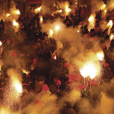 Festes de Corpus a la ciutat de Berga, Salt de dijous a la nit