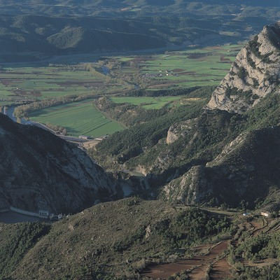 El río Segre desde el cerro de Remolins.  (Francesc Muntada)