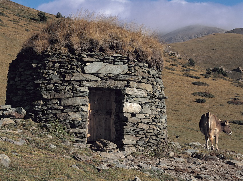 Barraca de la Vacarissa a la vall d'Estremera, prop de Queralbs.