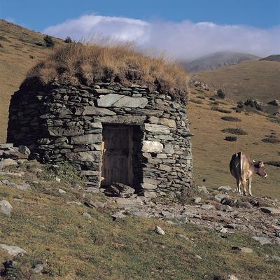 Barraca de la Vacarissa en el vall de Estremera, cerca de Queralbs.