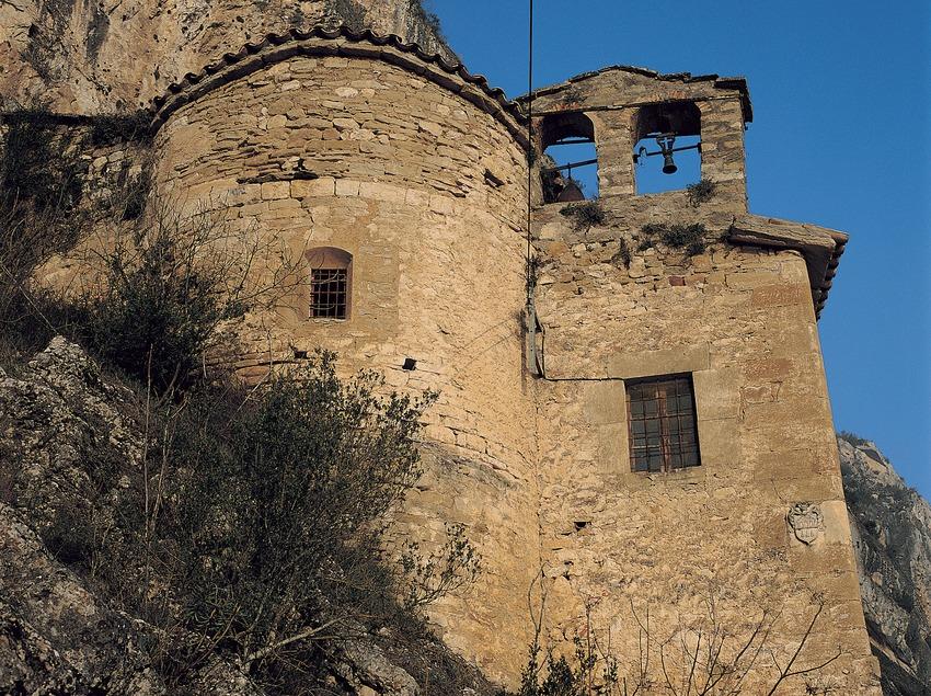 Vista de l'ermita de la Mare de Déu de Salgar.  (Ernest Costa)