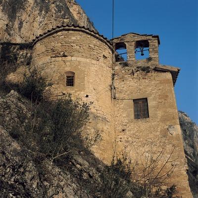 Vista de la ermita de la Virgen de Salgar.  (Ernest Costa)