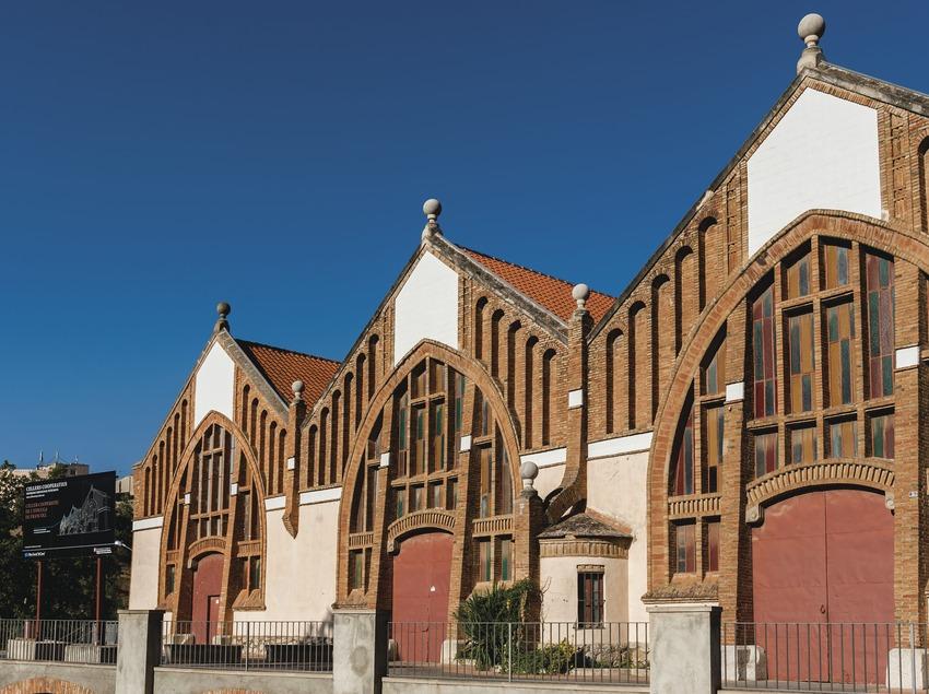 Celler Cooperatiu de l'Espluga de Francolí, façana del celler.