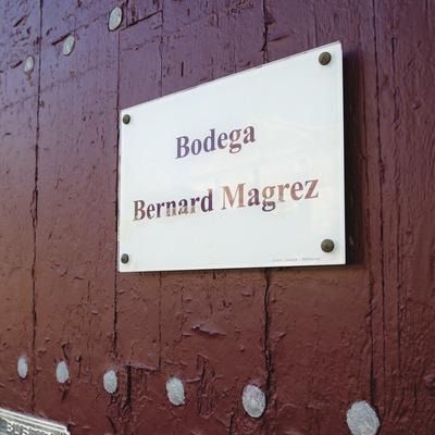 Domaines Magrez Espagne, detall de la porta del celler. (Marc Castellet)