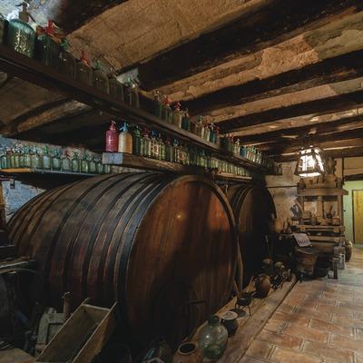 Castellroig, vista del museo del vino y del cava dentro la masía