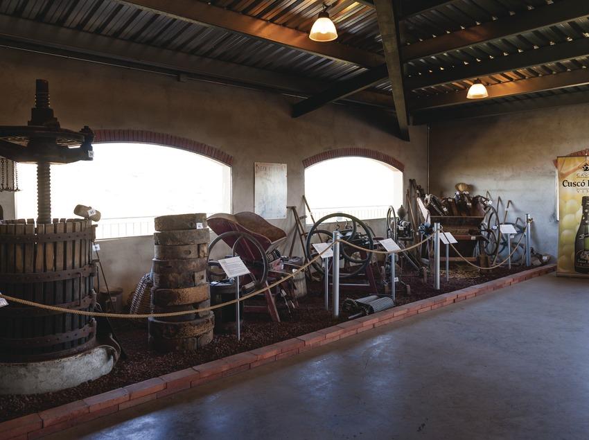Cuscó Berga, petit museu dins la cava. (Marc Castellet)