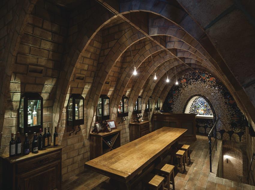 Raventós Rosell - Heretat Vall-Ventós, sala de degustació de la cava. (Marc Castellet)
