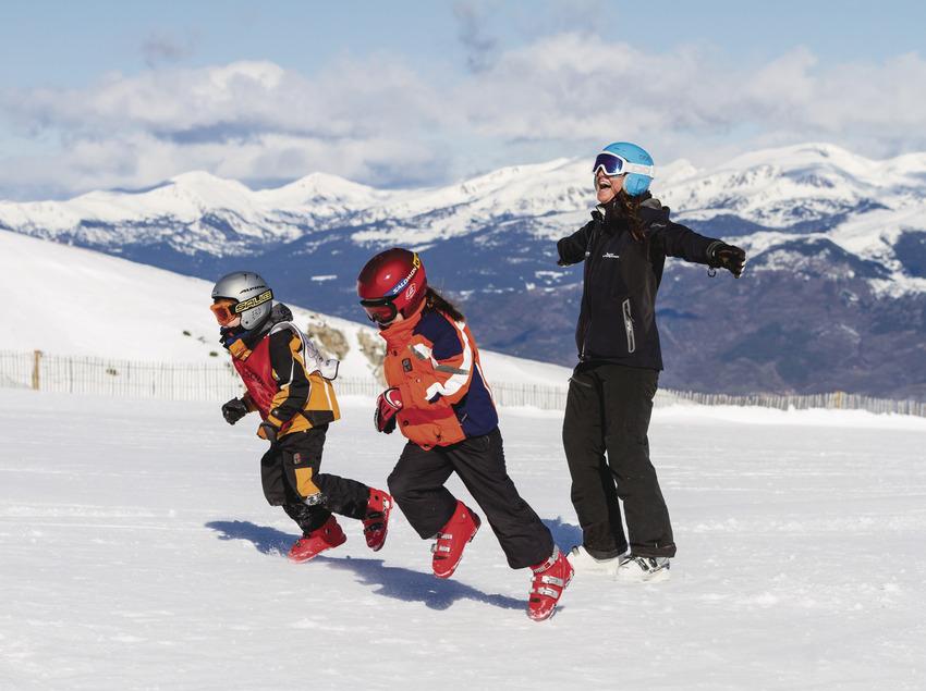Esquiar amb sol