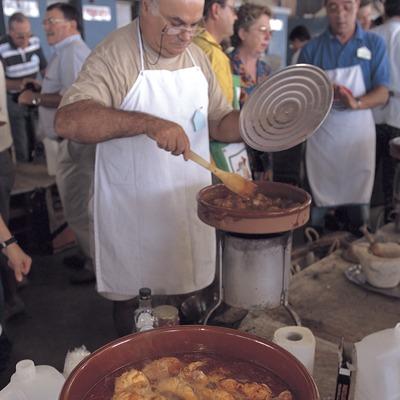 Concurs de mestres romescaires durant les festes de Santa Tecla a Tarragona.