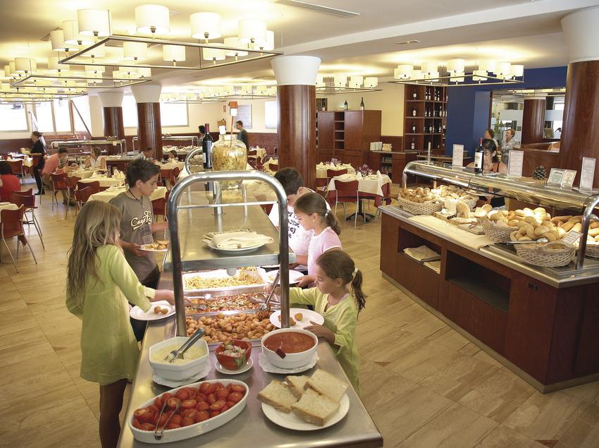 Restaurant de l'hotel Blaumar.