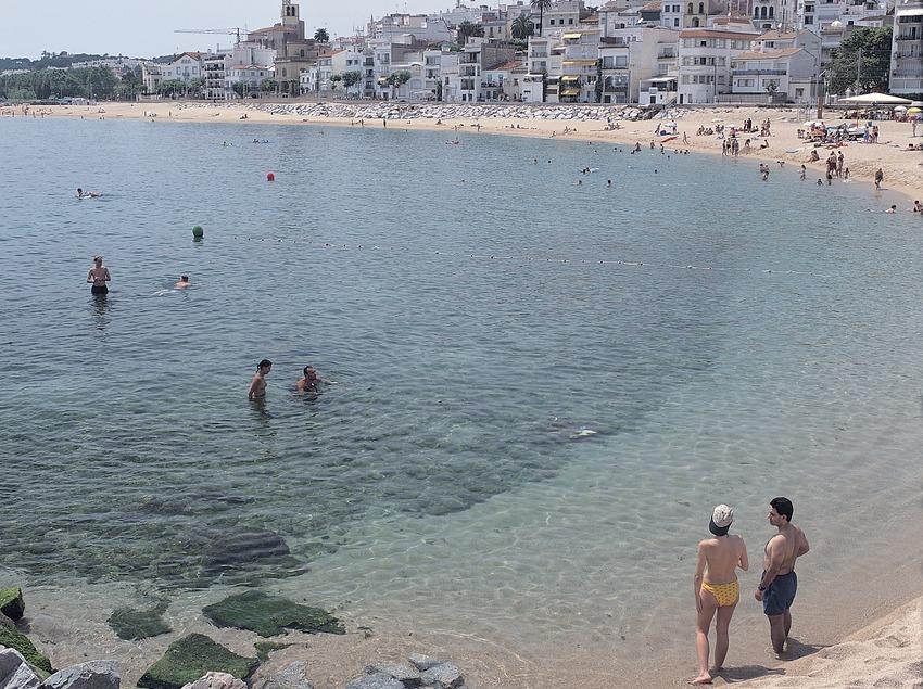 Playa de Sant Pol de Mar.  (Felipe J. Alcoceba)