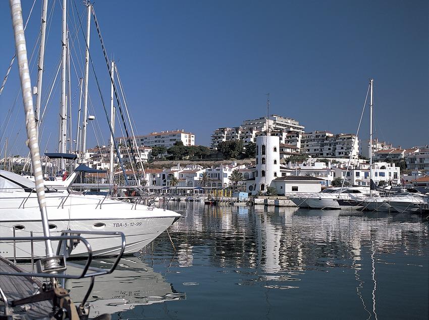 Port nàutic d'Aiguadolç a Sitges.