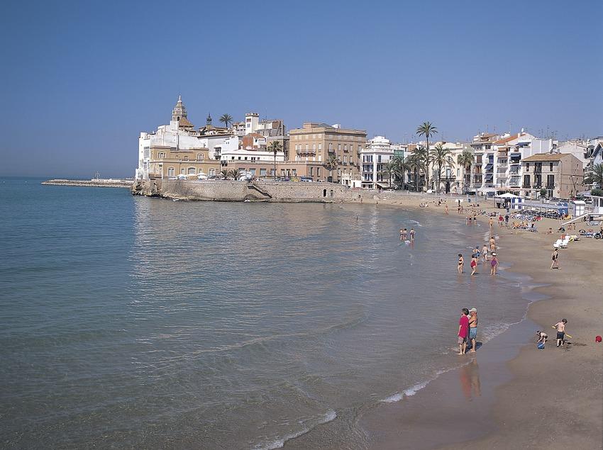 Playa de Sitges.  (Felipe J. Alcoceba)