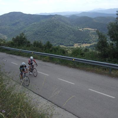 Ciclistes en ruta des de Blanes.(Oficina Municipal de Turisme de Blanes)